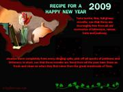RECIPE FOR A HAPPY NEW YEAR 01-03-09