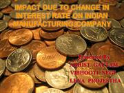 be interest rate impact on manufacturing company