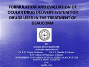 OCULAR DRUG DELIVERY SYSTEM final