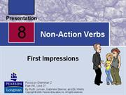 Unit 2 -Non-Action Verbs