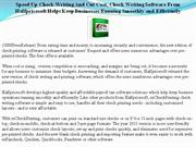 speed up check writing and cut cost, check writing software from halfp