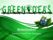 INFORMATION TECHNOLOGY GREEN IDEAS ENVIRONMENT PPT TEMPLATE