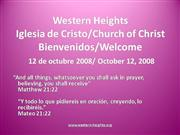 Bilingual Praise & Worship 10-12-08