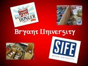 Bryant University_Let's Can Hunger Challenge