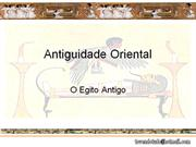 Antiguidade Oriental- Egito