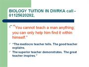 BIOLOGY Home Tuition by School Teacher (since 1986)9350020282