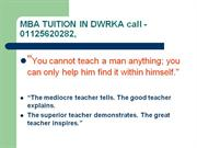 MBA Home Tuition by School Teacher (since 1986)9350020282