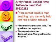 APS Home Tuition by School Teacher (since 1986)9350020282
