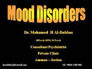 Psychiatric Disorders: 1. Mood disorders
