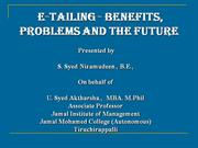 e-tailing benefits, hurdles and future