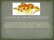 GOLD as an investment