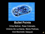 Bullet Points Assingment over BMW