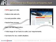 Bad Credit Car Loans at Low Rates Online in USA