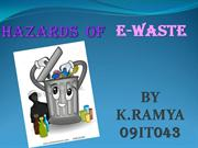 Hazards of e-waste
