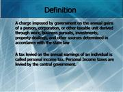 Personal Income tax