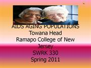 AIDS AGING POPULATIONS