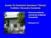 Metoda R.A.I. Sc St. Deculescu Oltenita