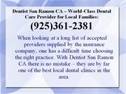 Dentist San Ramon CA: (925) 361-2381