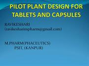 pilot study for tablet and capsule