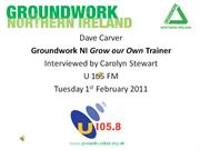 Dave Carver U105 FM Radio Interview Feb 2011