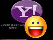 Connect socially with yahoo!