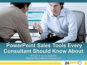 Sales tools and techinques for powerpoint that every consultant should