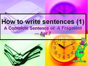 How to write sentences (1)4.7