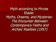 Myths  Dreams and Mysteries