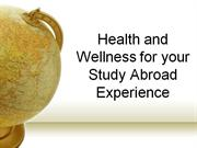 Health and Study Abroad