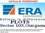 Era Landmark Plots Sector 103 Gurgaon Era Plots Dwarka Expressway