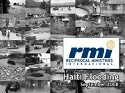 Haiti Flood from RMI