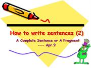 How to write sentences (2)4.9