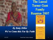 Luceal Turner Gant  Family Reunion 2007