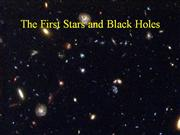The First Stars and Black holes