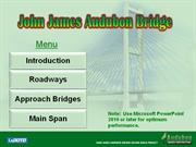 John James Audubon Bridge-MENU