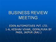 Eden Business Review Meeting.