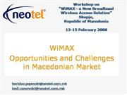 WiMAX  Opportunities and Challenges in Macedonia