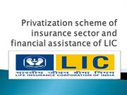 Privatization scheme of insurance sector and financial assistance