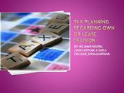 tax planning regarding awn or lease desicion