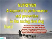 Nutrition of racing sled dogs Part 3