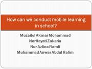 How can we conduct mobile learning in school