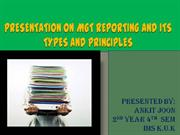 Management REPORTING AND ITS TYPES AND