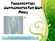 Fundapeptide Supplementen For Our Minds