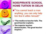 NOIS Home Tuition By The Sai Career -Crafters (Since:1986)@ 9868520282