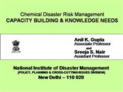 Disaser Management Capacity Building Knowledge Nee