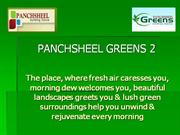Pancsheel Greens 2 Noida extension call 9718288355 for booking on spot