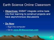 Online Tools and Classroom (Account Setup)