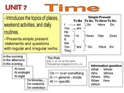 tn unit 5 L2U7 Prepositions of Time and Place in on at