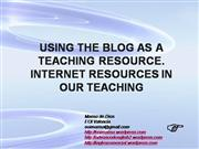 using the blog as a teaching resource