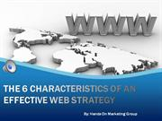 the 6 characteristics of an effective web strategy